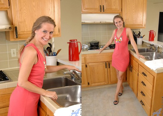Sara James - Kitchen - Anilos - MILF Sexy Photo Gallery