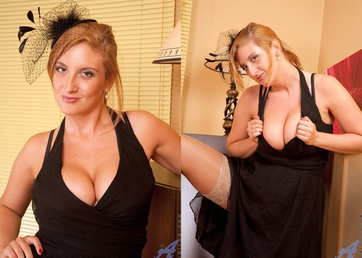 Leona Lee - Black Dress - Anilos - MILF Image Gallery