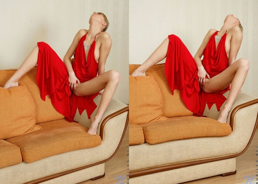 Abigail - date night red dress - Teen Image Gallery