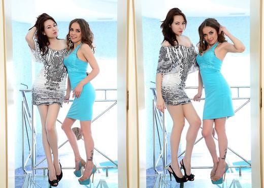 Close to the pool - Lila & Minerva - Lesbian HD Gallery