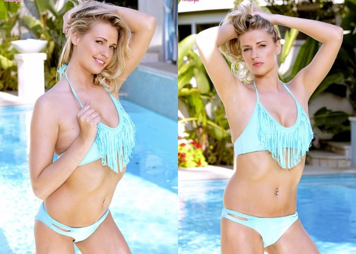 Alexa Johnson Fingers Herself At The Pool - Pornstars Porn Gallery