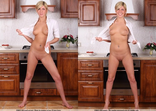 Fun In The Kitchen - Amalia C. - Solo Porn Gallery