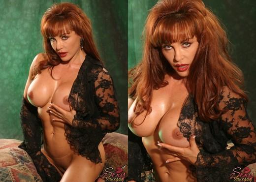 Sexy Vanessa in Black Lace Solo - Solo Nude Pics