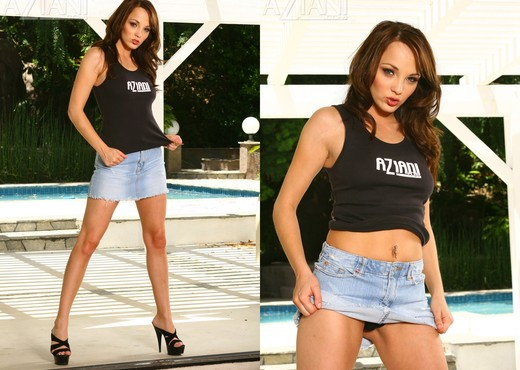 Charlie Laine in Jeans Skirt - Pornstars Picture Gallery