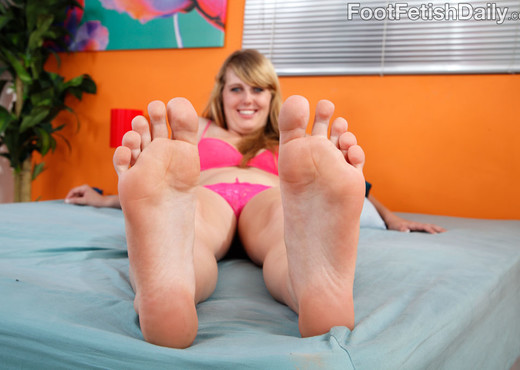 Emma Ash Wraps Her Sexy Feet Around a Black Cock - Interracial Picture Gallery
