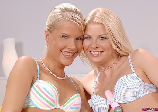 Pink Pussy & Wiska - Euro Teen Erotica - Lesbian Nude Pics