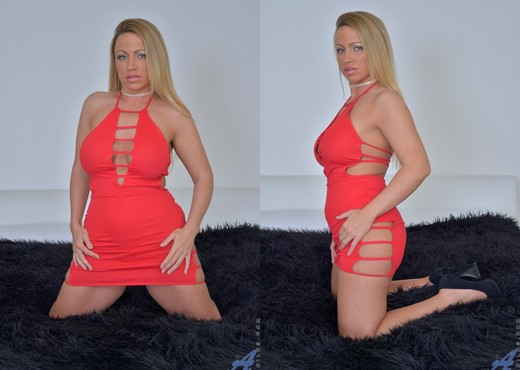 Taylor Morgan - Lady In Red - MILF Picture Gallery