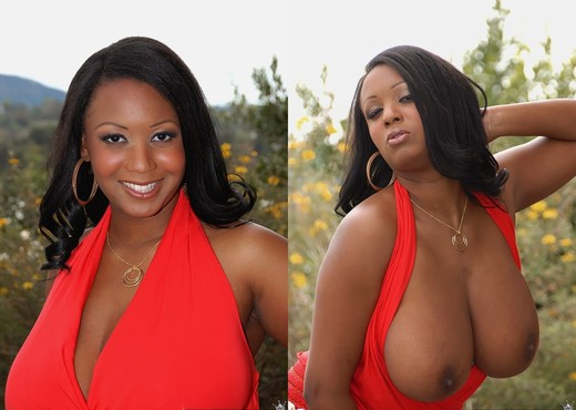 Aileen - Playful Boobs - Big Naturals - Ebony Nude Pics