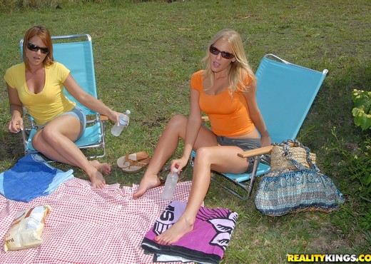 Olivia Sinclair & Brianna Ray - Picnic Pussy - MILF Next Doo - Lesbian Sexy Photo Gallery