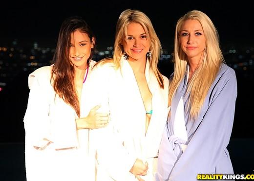 Celeste Star, Sammie Rhodes, Sarah Vandella - Night Cap - Lesbian HD Gallery