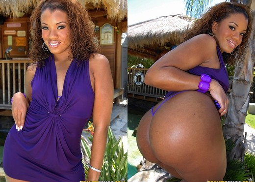 Sydnee Capri - Poolside Playmate - Round And Brown - Ebony Picture Gallery
