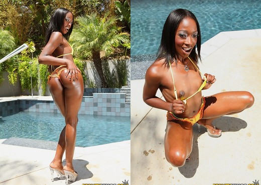 Taylor Starr - Booty Buster - Round And Brown - Ebony Sexy Gallery