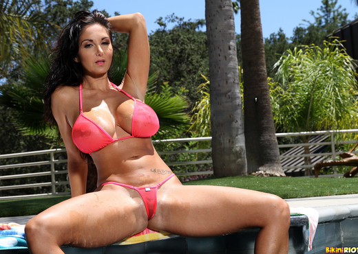 Ava Addams - Sheer Coral G-string Micro - Solo Sexy Gallery