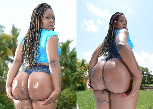 Harmonie Marquise & Diamond Monroe - Round And Brown - Ebony Nude Pics